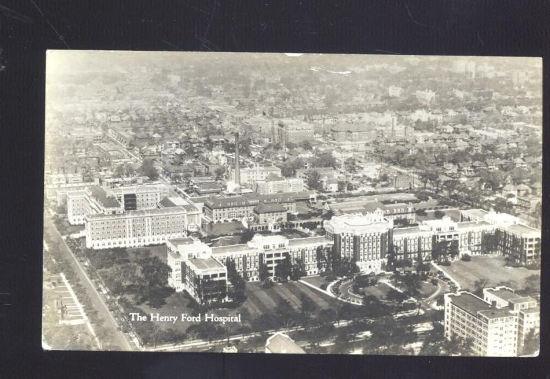 RPPC DETROIT MICHIGAN THE HENRY FORD HOSPITAL VINTAGE REAL PHOTO POSTCARD