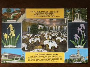 Maxwell House, Famous Dining Hall & Tennessee Scenes Flowers, Nashville D21