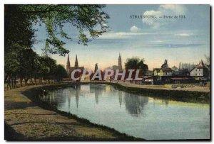 Old Postcard Strassburg Part of & # 39Ill