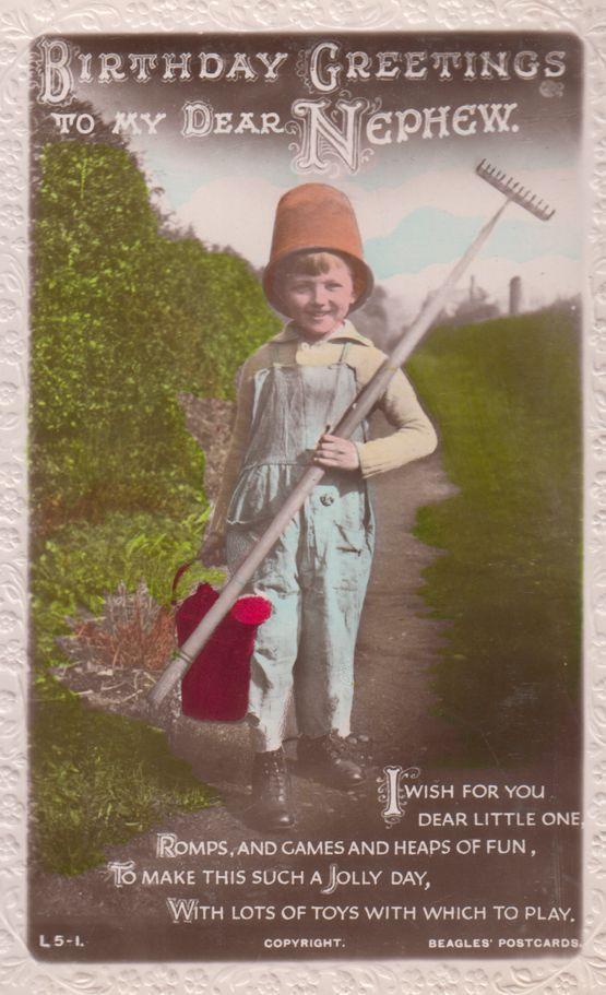 Boy Garden Rake Hat Gardening Real