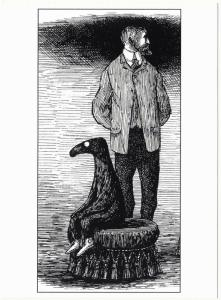 The Doubtful Guest Came Seventeen Years Ago by Edward Gorey - Large Postcard