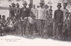 Men & Children, Groupe De Laontiens Du Bas Laos, LAOS, Asia, 1900-1910s