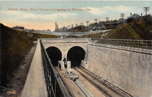 Michigan  Detroit  River Tunnel    as it appears at Windsor, Ont.
