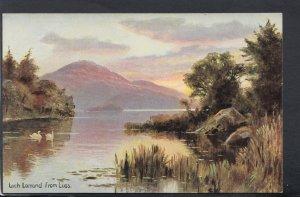 Scotland Postcard - Artist View of Loch Lomond From Luss HM28