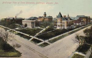 Nebraska Lincoln Birds Eye View Of State University Buildings
