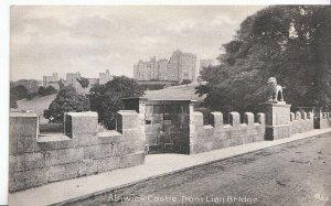 Northumberland Postcard - Alnwick Castle from Lion Bridge   V821