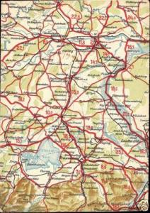 germany, TRAUNSTEIN, Bavaria, MAP postcard (1940s)