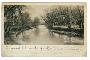 Oakland, Nebraska to Lindsborg, Kansas 1909 used Postcard, Logan River
