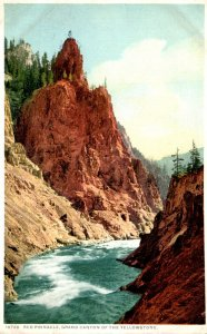 Yellowstone National Park Red Pinnbacle Detroit Publishing