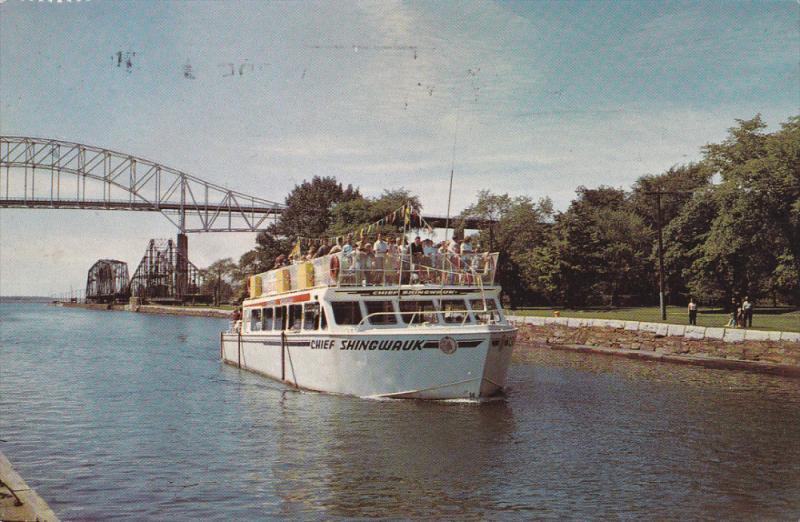 CHIEF SHINGWAUK Cruise ship , Soo Locks , SAULT STE. MARIE , Ontario , Cana...