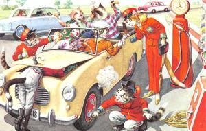 Fantasy Dressed Mainzer Cats~Gas Station~Full Service~Max Kunzli~#4966 Turkey