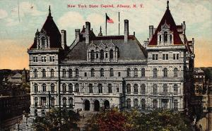 New York State Capitol, Albany, New York, Early Postcard, used in 1912