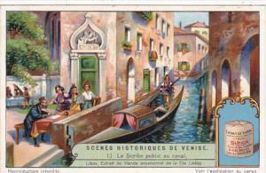 Liebig Trade Card s1254 Scenes From Venetian History No 1 Le Scribe public au...
