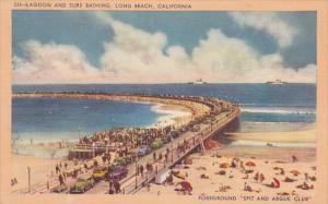Lagoon and Surf Bathing, Spit and Argue Club, Long Beach, California, 30-40s