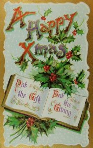 A Happy Christmas Written On Printed In Germany Divided Back Vintage Postcard