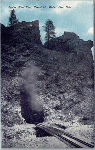 Colorado Railroad Postcard Sphinx Head Pass, Tunnel 31, MOFFAT LINE c1910s