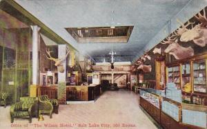 Office Of The Wilson Hotel Salt Lake City 300 Rooms Salt Lake City Utah