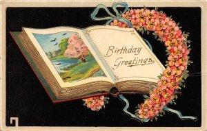 Birthday Book inside Good Luck Horseshoe