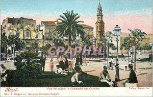 Postcard Modern Napoli Villa del Popolo e del Carmine Campanile.