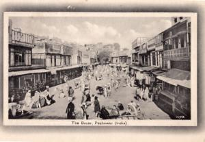 Peshawar Bazar Pakistan Market Antique Postcard