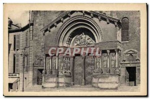Old Postcard Arles Facade of the Cathedrale Saint Trophime the finest Romanes...