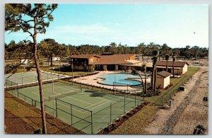 Bradenton Florida~Tennis Courts~Braden River~Horseshoe Cove~RV Resort~1970s