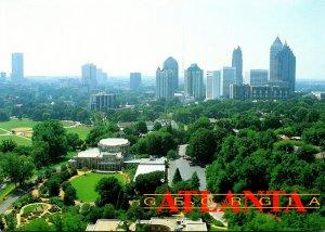 Georgia Atlanta Aerial VIew Overlooking Botanical Gardens Piedmont Park and M...