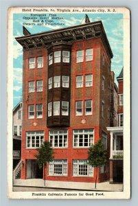 Atlantic City NJ-New Jersey, Hotel Franklin, Cafeteria, Vintage c1928 Postcard