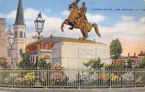 Statues / Monuments Postcard Jackson Statue New Orleans, Lousiana, USA Unused