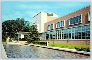 Carbondale Southern Illinois University~Closeup of Pool & Morris Library 1950s