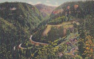 Arizona Oak Creek Canyon Switchbacks Curteich