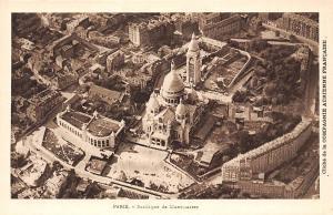 France Paris Basilique de Montmartre Basilica Airview