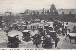 MOOSE JAW , Sask. , Canada , 00-10s ; Receiving Deputation at C.P R. Station