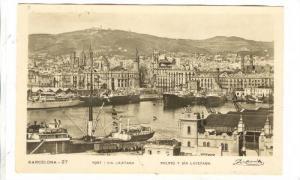 BARCELONA, Aerial View, Port I Via Laietana, Puerto Y Via Layetana, Cataluna,...