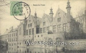 Palais du Franc Bruges, Belgium 1920 Stamp on front