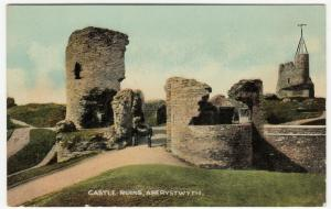 Cardigan; Castle Ruins, Aberystwyth PPC By Dennis, Unposted, c 1910's