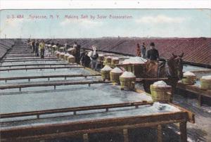 New York Syracuse Making Salt By Solar Evaporation 1907