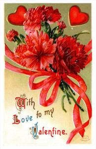 Valentine's  Red Carnations, With Love to my