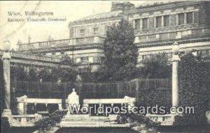 Volksgarten, Kaiserin Elisabeth Denkmal Wien, Vienna Austria Unused