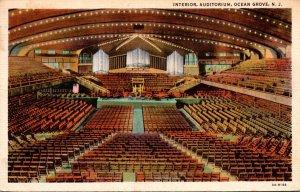 New Jersey Ocean Grove Auditorium Interior 1936
