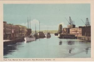 ST JOHN , New Brunswick , Canada , 1930s; High Tide, Market Slip