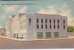 Rhode Island Providence New Fire and Police Station 1941