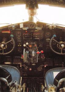 Postcard McDonald Douglas DC3 Dakota G-AMRA Air Atlantique Classic Flight