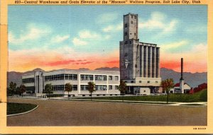 Utah Salt Lake City Central Warehouse and Grain Elevator Of The Mormon Welfar...