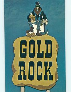 Pre-1980 POSTCARD OF SIGN AT GOLD ROCK MOTEL Gold Rock North Carolina NC J7292