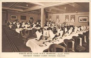 R.M.S. Homeric, White Star Line, Tourist Third Cabin Dining Saloon