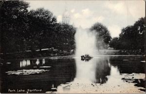 View of Park Lake, Hartford Connecticut UDB Vintage Postcard N23