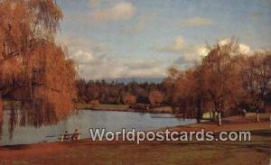 British Columbia, Canada Lost Lagoon in the Fall Vancouver  Lost Lagoon in th...