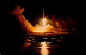 Florida John F Kennedy Space Center Apollo 17 Launching From Launch Complex 3...