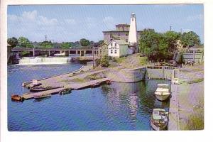 The Falls, Boats, Lock, Lighthouse Fenelon Falls, Kawartha Lakes, Ontario